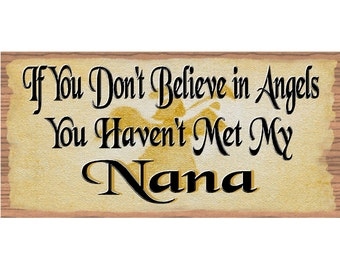 Nana Wood Sings -Nana's Plaque - GS 1726