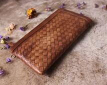 Brown leather wallet woman,leather wallet man,handmade wallet,leather purse,rustic wallet,unisex wallet