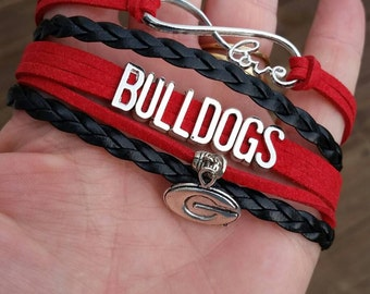 Georgia bulldogs bracelet.
