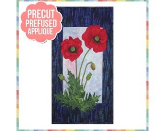 Poppies - Laser Cut Pre Fused Applique Quilt Kit