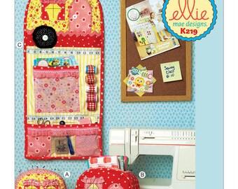 Ellie Mae Designs Pattern K0219 Vintage Trailer Pin Cushion, Storage Box and Organizer