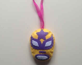 Mask Lucha libre yellow