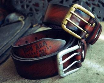 Solid leather belt Men's Women's Leather Belt of genuine leather handmade men's belt Women's belt leather belt