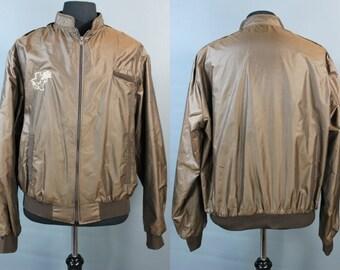 80's Windbreaker......80's Texas Motif Windbreaker Baseball Jacket