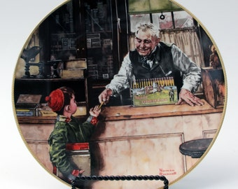 Back to School - Norman Rockwell Coming of Age Collector Plate  MINT!