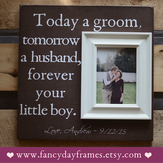 Engagement Gifts From Parents Of The Groom : Mother of the Groom Picture Frame Mother Father by FancyDayFrames