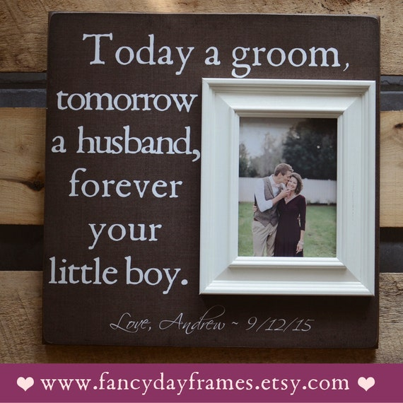 Wedding Gift Ideas From Parents Of The Groom : Mother of the Groom Picture Frame Mother Father by FancyDayFrames