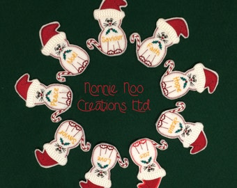 NNC ITH Santa Cat for the 4x4 hoop - pes, jef, exp, hus, vip, vp3, dst, xxx