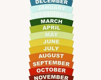Month names for Montessori Year chain / Montessori education / Montessori material / Cosmic education / Birthday circle / Month names