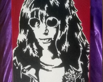 joey Ramone the ramones handpainted canvas made to order a4 canvas size