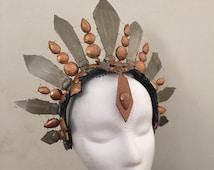 Custom Made Beaded Crown, Custom Goddess Headdress, Opulent Beaded Headpiece Custom Order.