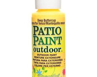 Patio Paint Outdoor, Deep Buttercup, 2 oz bottle, Decoart