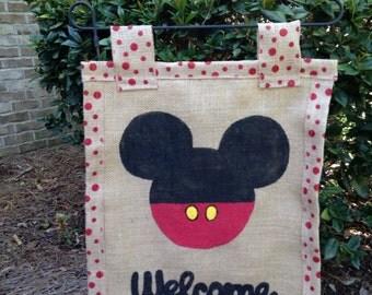 Mickey mouse garden flag