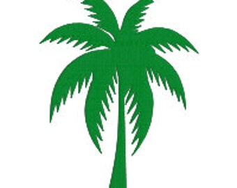 BUY2GET1FREE - Palm Tree Silhouette Machine Embroidery Design in 3 Sizes - Instant Download