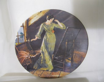 "Norman Rockwell ""Memories"" collectors plate , 3rd edition 1982"