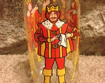 Vintage 1980s Burger King Glass