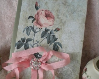 Altered Journal Shabby Vintage Paris Roses