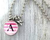 kids necklace, kids jewelry, initial charm, monogram pendant, kids accessories, pendant, Interchangeable photo jewelry