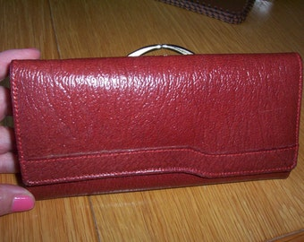 Vintage Leather Purse. Brown Leather Wallet.
