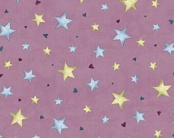 Santoro's Gorjuss - Rainbow Dream, Medium Plum Stars Cotton Fabric