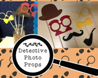 Detective/CSI Photo Booth Props
