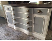 PORTFOLIO - Grey and White Buffet, Dresser, Credenza, Furniture, Stained