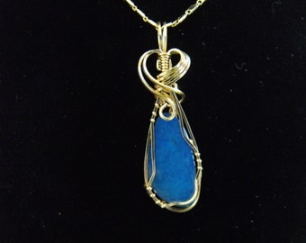 20% Off Austrailian Opal Pendant, Natural Royal Blue, Gift for Her