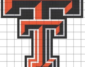 Texas Tech Cross Stitch Pattern
