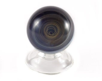 Cascading Fumed Spiral Marble by Brad Quintana
