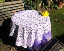 Vintage 1960's Floral Tablecloth