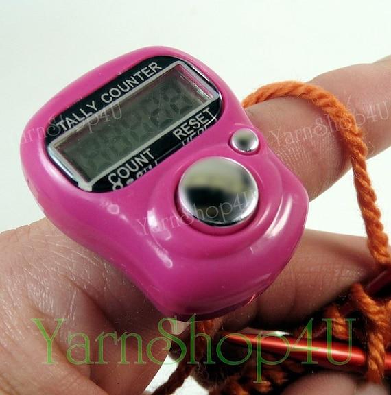 Knitting Row Counter For Finger : Digital row counter orange finger tally