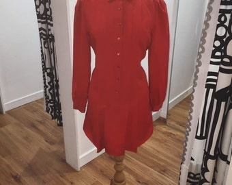 Schrader Sport Reworked Red 80s Shirt Dress