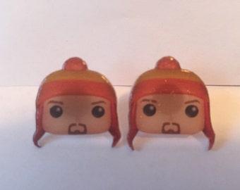 Handmade Plastic Fandom Earrings - Firefly - Jayne Cobb