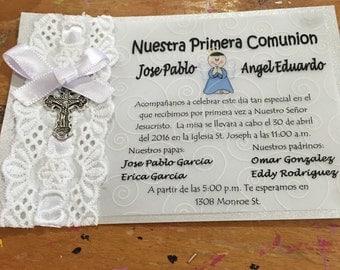 Invitaciones para primera comunion  invitations for first comunion