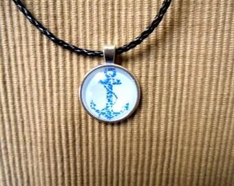 Leather necklace, Maritim (1176)