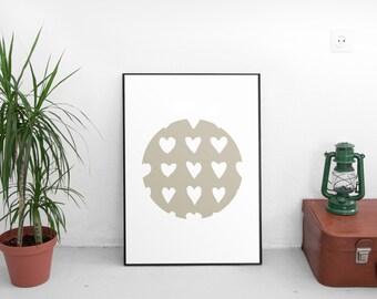 Minimalist Art, Geometric Print, Circle Wall Art, Brown Art, Minimalist Wall Print, Printable Art, Wall Prints, Geometric Art, Brown Decor
