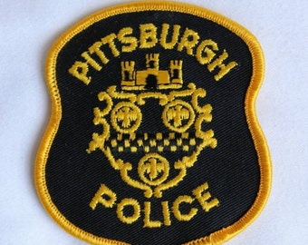 Pittsburgh Police Vintage 1980s NOS Iron On Shoulder Patch