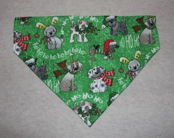 Christmas Dogs Dog Bandanna in Small, Medium & Large