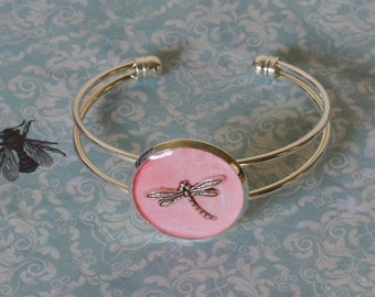 Pink Dragonfly Bracelet