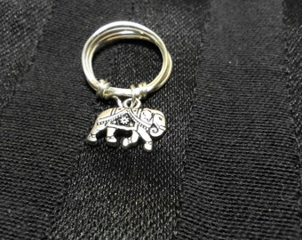Elephant Dangle Ring