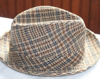 Vintage Mens Tweed/Wool Hat Made by Champ