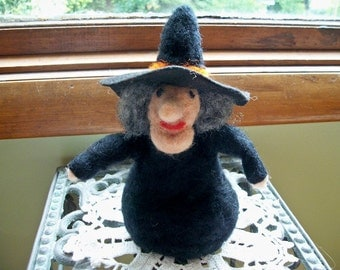 Witch Figure, Needle Felted Witch, Witch Doll, Handmade Witch