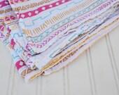 "Muslin Swaddle Blanket: Raising Summer 100% Cotton Muslin Swaddle Blanket.  Muslin Swaddle Blankets Measure 47""x47"""