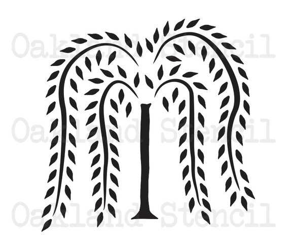 Primitive Willow Tree Stencil 10 Tall For Painting