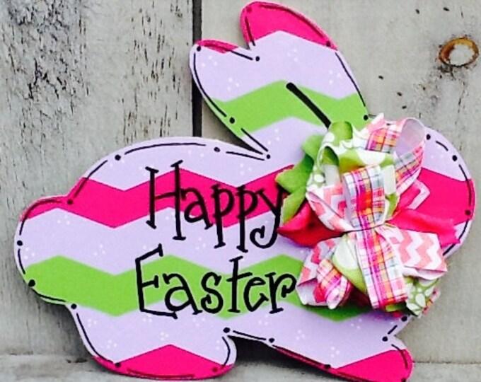 Easter bunny sign, easter sign, easter door hanger, easter bunny door hanger, spring door hanger