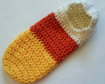 Crochet Pattern, Newborn Hooded Cocoon, Pod, Candy Corn, Instant Download, Newborn Halloween Costume