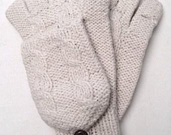 Handmade 100% Alpaca Hooded Fingerless texting gloves /  glittens! Perfect for winter and as holiday gift for Christmas or Hanukkah!