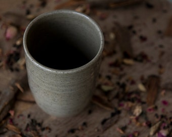 Ceramic Tumbler / Pottery Stoneware Coffee Cup / Gifts For Pottery Lovers