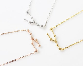 Rose Gold Taurus Necklace Zodiac Necklace Taurus Zodiac necklace Zodiac Signs Constellation Jewelry Birth Sign Gift for Friends
