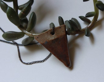 Small Dipped Ceramic Triangle